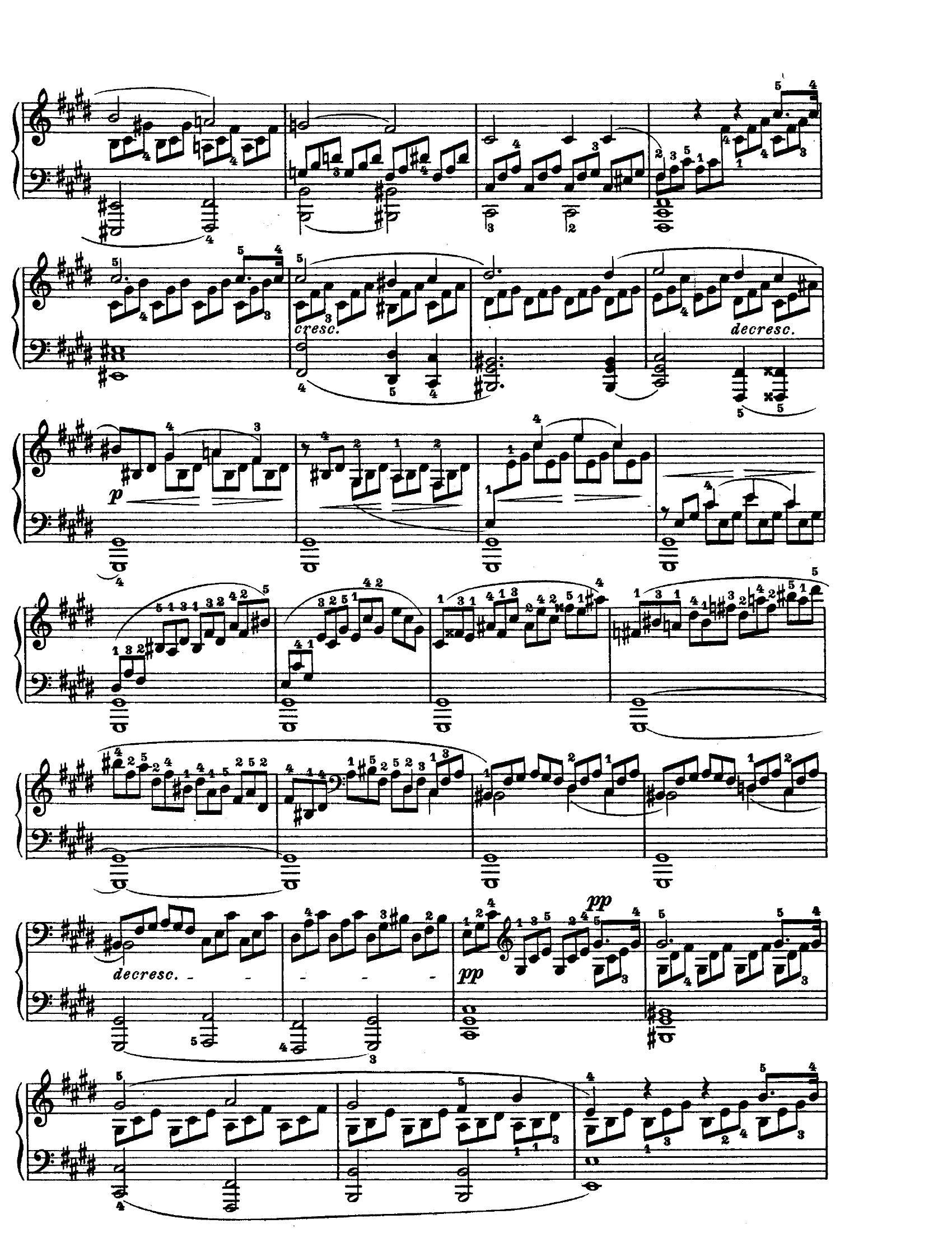 Beethoven Moonlight2 - نت آهنگ Moonlight از Beethoven
