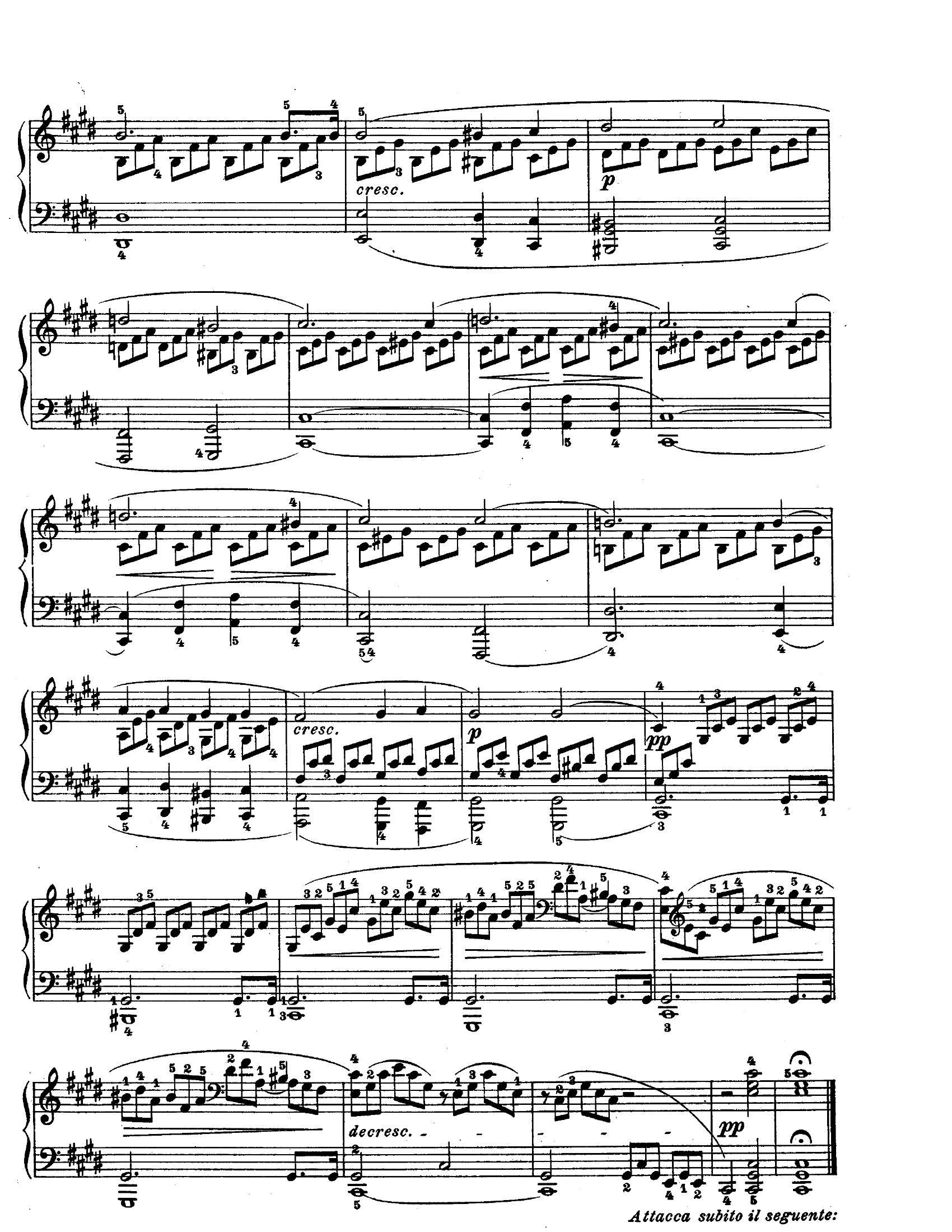 Beethoven Moonlight3 - نت آهنگ Moonlight از Beethoven