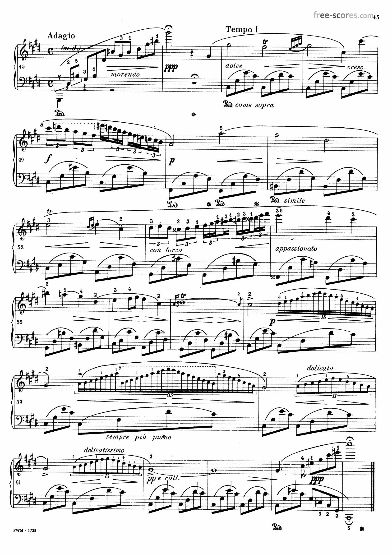 Chopin Nocturne c sharp minor3 - نت آهنگ Nocturne c sharp minor از Chopin