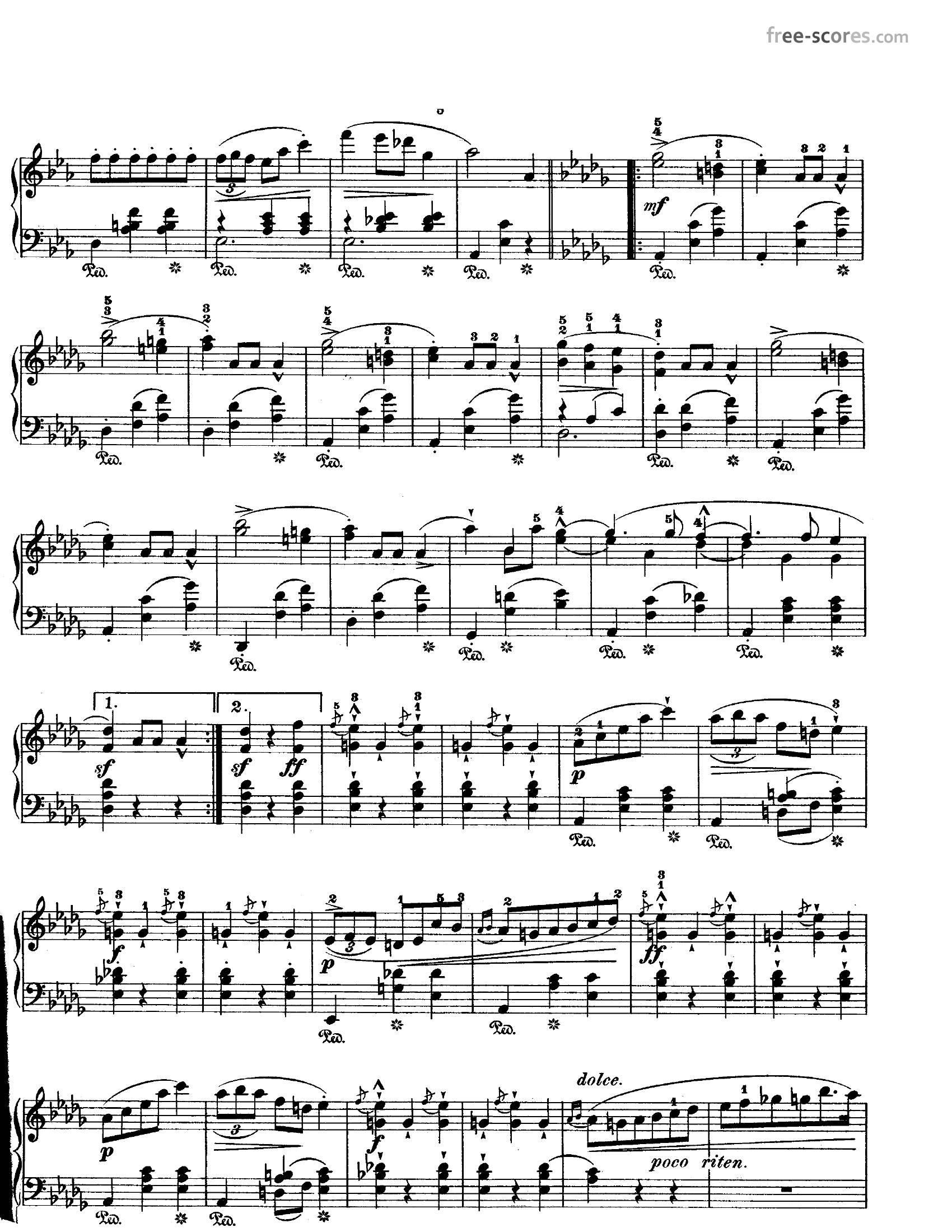 Chopin Opus 183 - نت آهنگ Opus 18 از Chopin