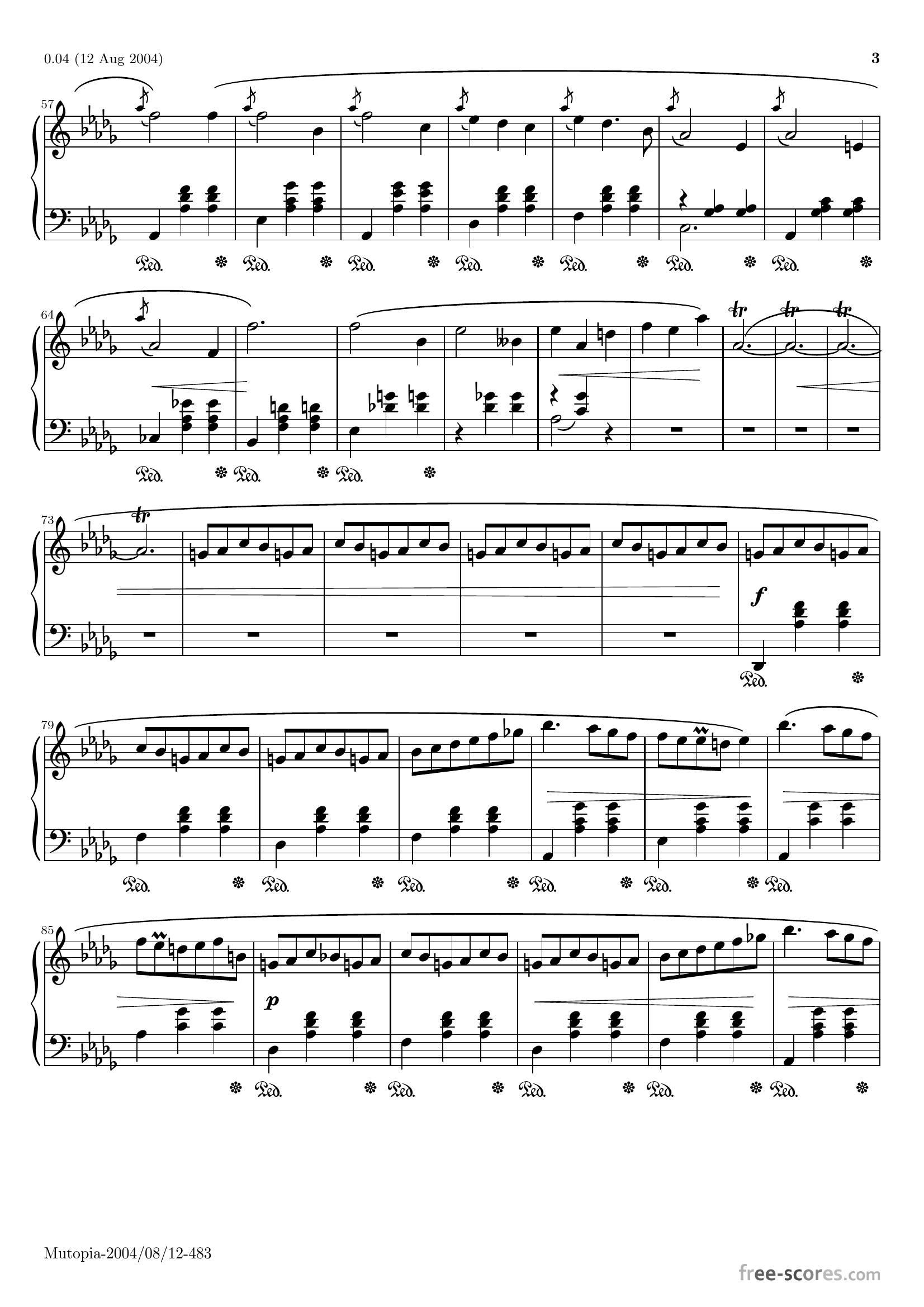 Chopin Opus 64 no 13 - نت آهنگ Opus 64 no 1 از Chopin