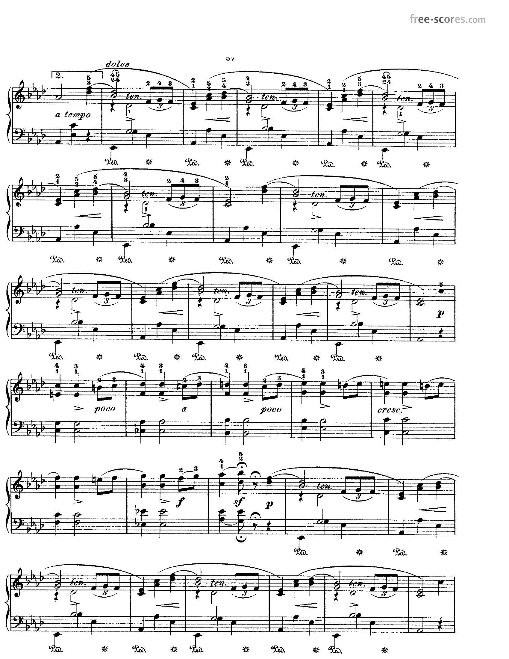 Chopin Opus 69 no 13 - نت آهنگ Opus 69 no 1 از Chopin