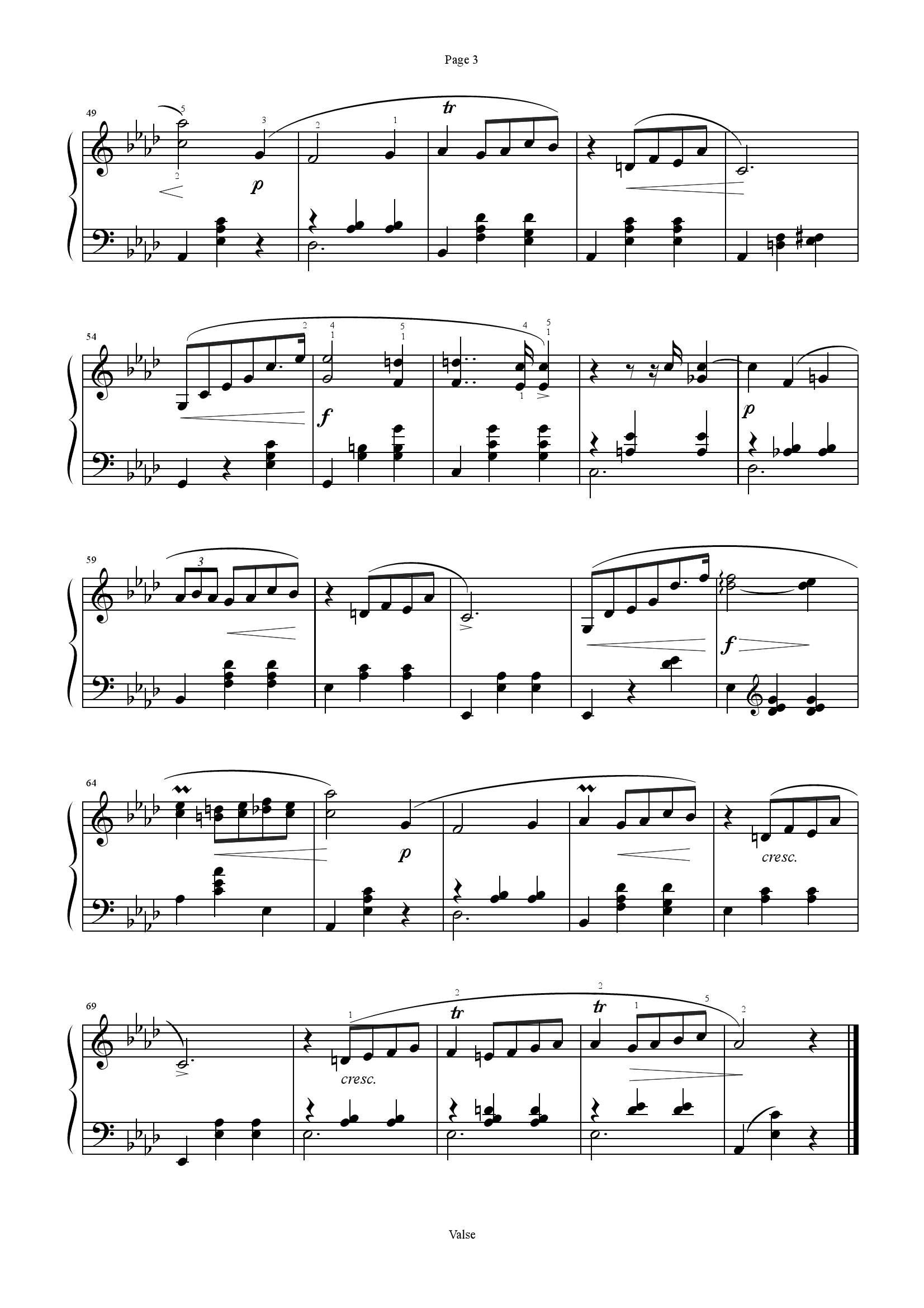 Chopin Opus 70 no 23 - نت آهنگ Opus 70 no 2 از Chopin