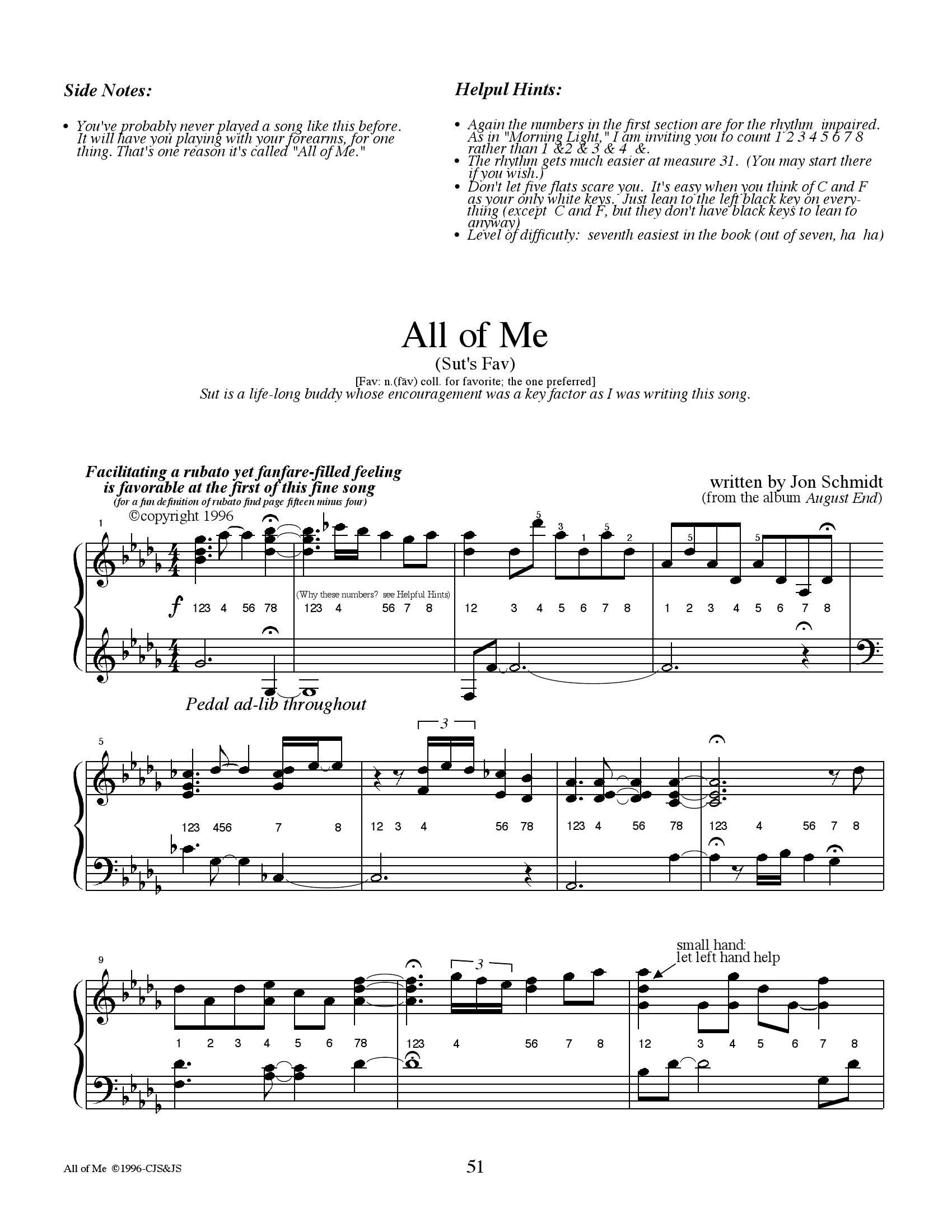 Jon schmit All of me1 - نت آهنگ All of me از Jon schmit
