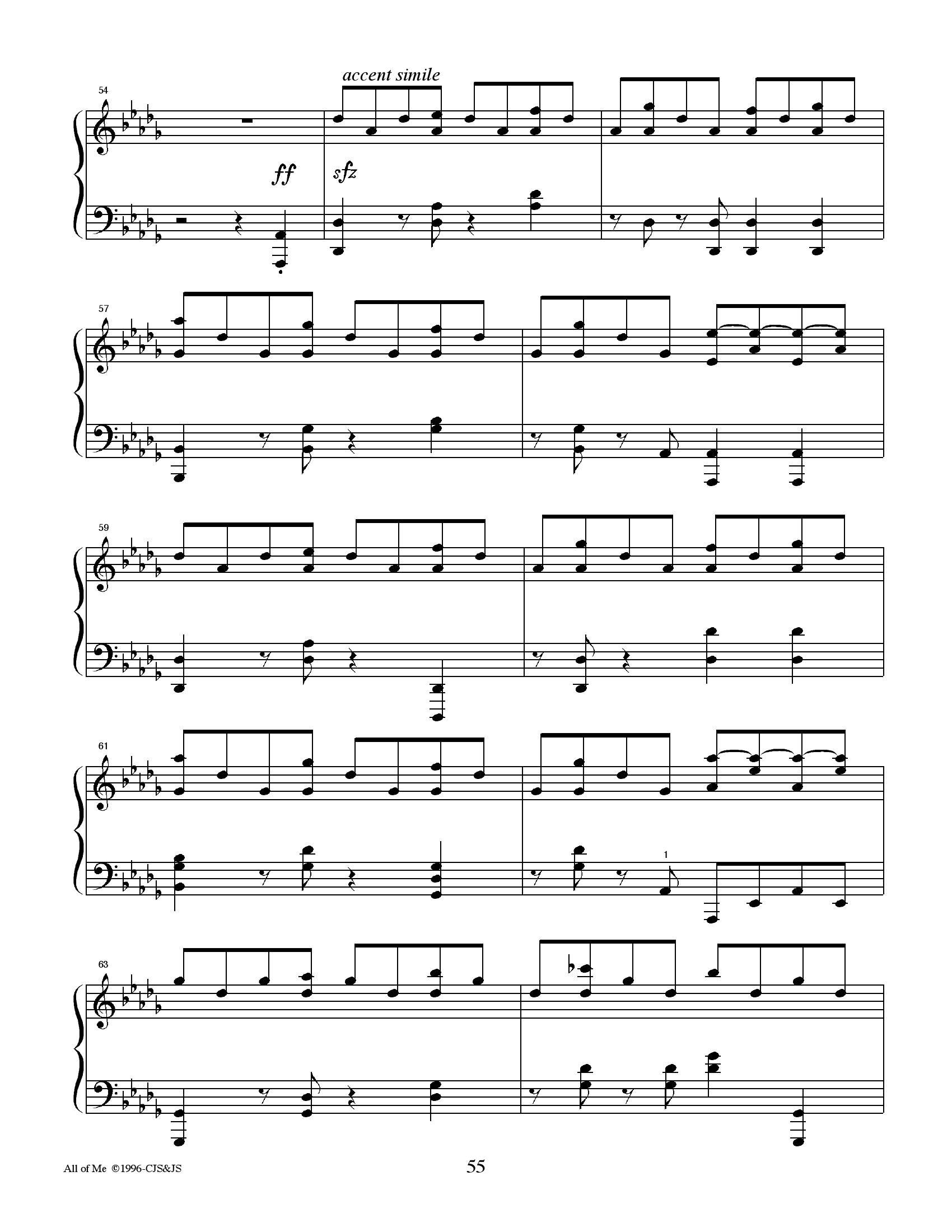 Jon schmit All of me5 - نت آهنگ All of me از Jon schmit
