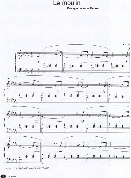 Yann tiersen Le moulin1 - نت آهنگ Le moulin از Yann tiersen