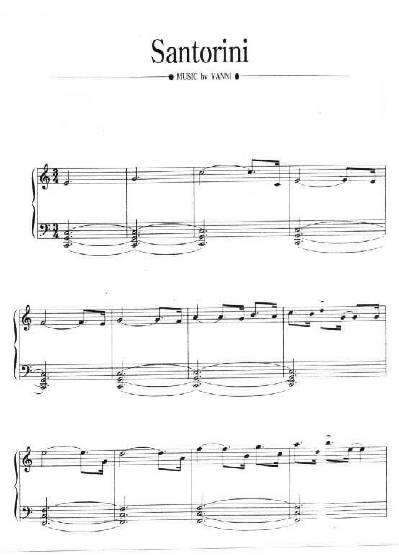 Yanni Santorini1 - نت آهنگ Santorini از Yanni